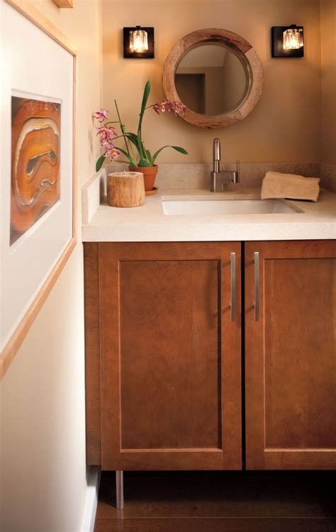 Waypoint Cabinets by Waypoint Cabinets Powder Room Cherries
