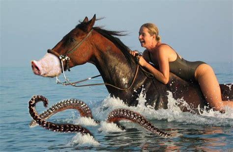 marito porta la moglie alla monta file donna cavalca cavallo maiale con tentacoli jpg