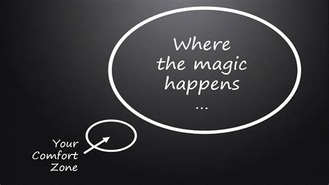 Outside The Comfort Zone by Where The Magic Happens Step Outside Your Comfort Zone