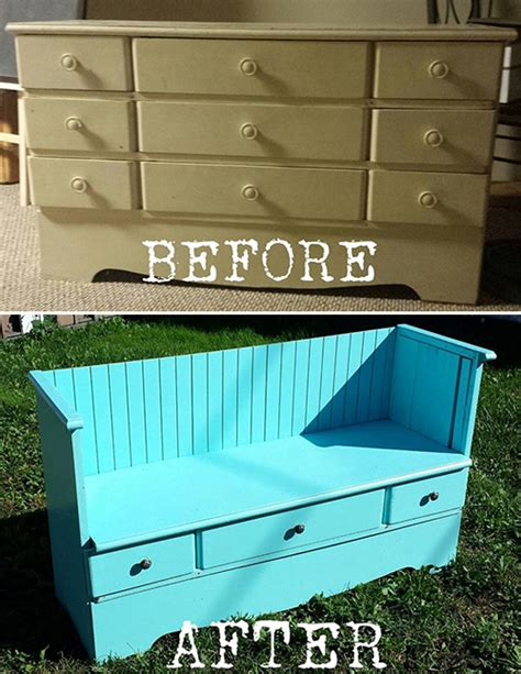 how to make a dresser into a bench diy from old dresser to pretty vintage bench commatose ca