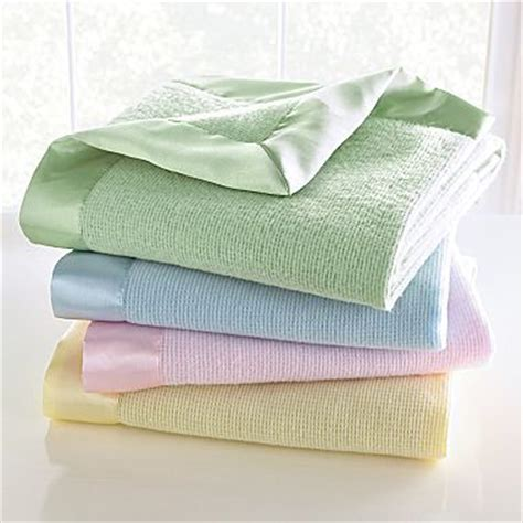 Thermal Blankets With Satin Trim by Baby Blankets Blankets And Babies On