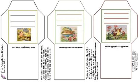 printable seed packet template seed packages on seed packets garden seeds