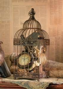 How To Decorate A Birdcage Home Decor by Birdcage Decorating Ideas Card Holder Centerpiece Candles