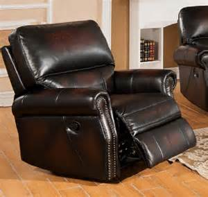 Top Grain Leather Sofa Recliner Two Tone Top Grain Leather Recliner Usa Furniture