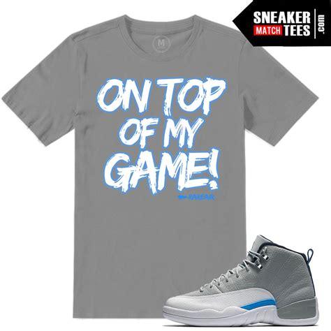 Tshirt Woles Grey wolf grey t shirt match 12 retros sneaker match tees