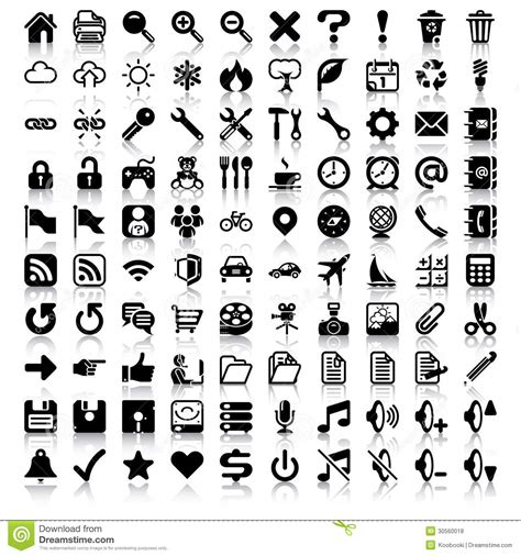 minimalist icon set royalty free stock photos image