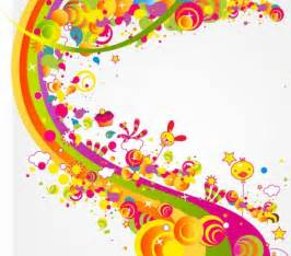 what color is happy free abstract happy cute rainbow color vector illustration vector free download