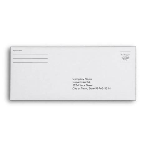 where does st go on envelope business company logo return address payment check