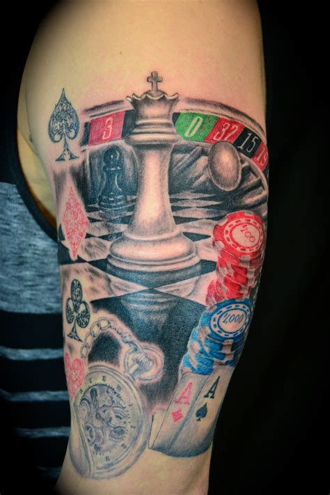 gambling tattoo on arm tattoobite