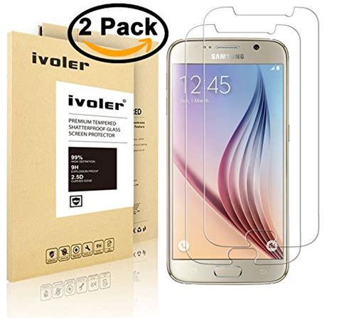 Samsumg Galaxy S6s6 Edge Otterbox Anti Shock Back 2 pack ivoler tempered glass screen protector for samsung galaxy s6 0 2mm ultra thin 9h