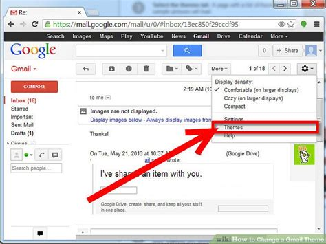 gmail colour themes how to change background image in gmail account