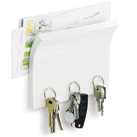 Key Rack by Letter Holder And Magnetic Key Rack White In Mail Organizers