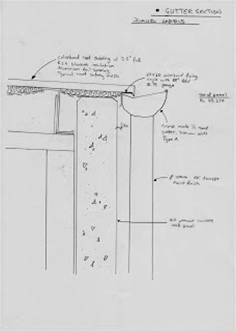 gutter section detail dave s blog tutorial drawing exercises