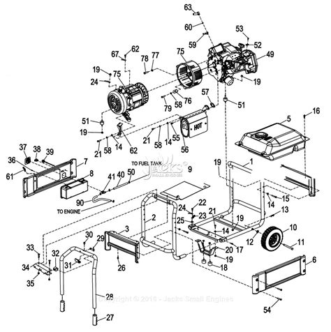 generac parts diagram generac 0057980 xg7000e parts diagram for frame assembly