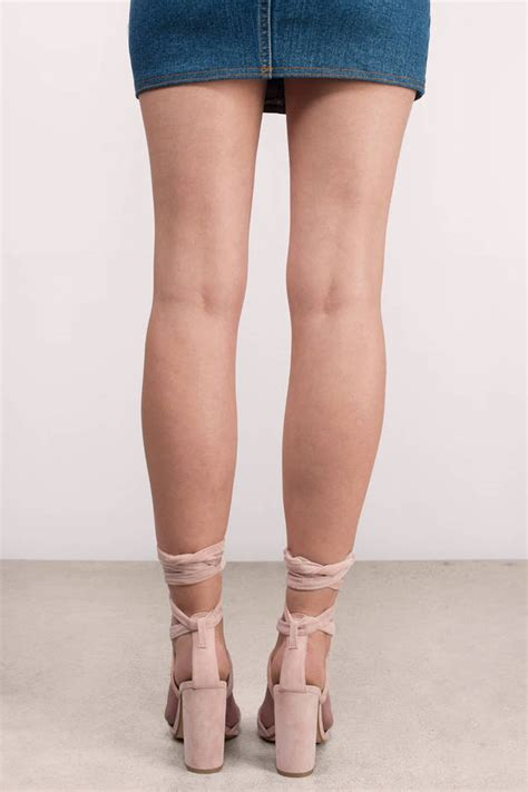 light pink lace up heels cute light pink heels pink heels suede heels 110 00