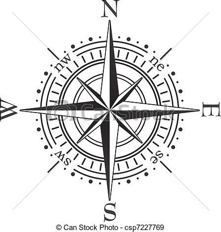 line drawing compass clipart best black compass royalty free vector image csp7227769