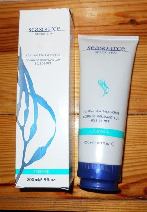 Arbonne Seasource Detox Spa 5 In 1 by Arbonne Seasource Detox Spa Foaming Sea Salt Scrub