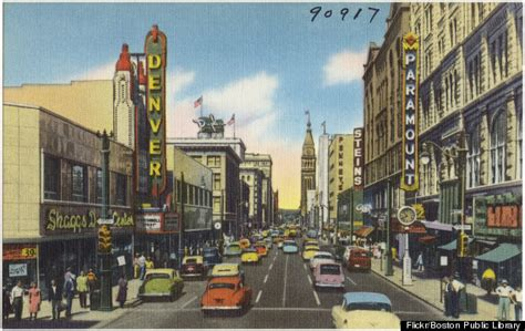 denver post business section 50 vintage postcards from the golden age of road trips