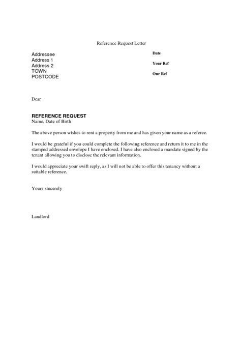 Recommendation Letter By Email employment reference request letter template