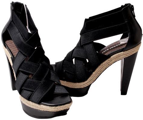 gianni bini womens shoes black or rice cara platform heels