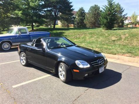 how it works cars 2002 mercedes benz slk class parental controls purchase used 2002 mercedes 320 slk six speed manual in ashburn virginia united states for us