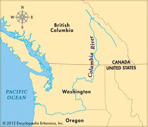 columbia river canada map columbia river encyclopedia children s homework