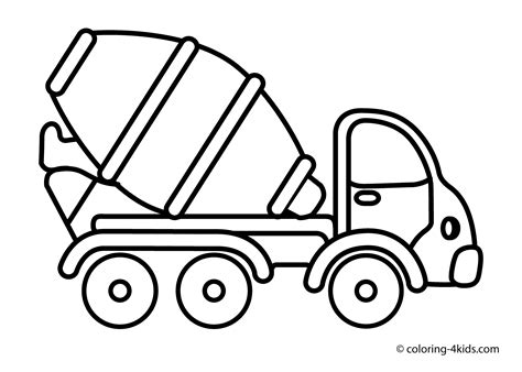 coloring page truck dump truck coloring pages to and print for free