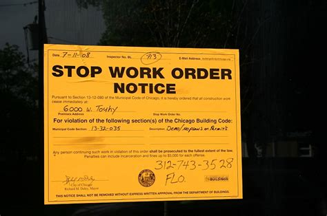 Stop Work Order stop work order issued for 6000 w touhy ave 60646 blog