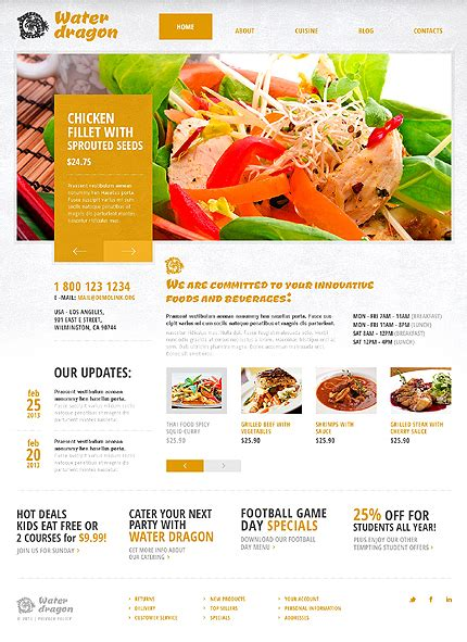 template 43503 thai food and restaurant responsive