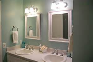 sherwin williams watery color and dual vanities with