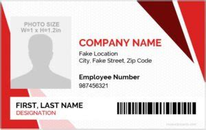 Microsoft Word ID Card Templates Office Templates Employee Information