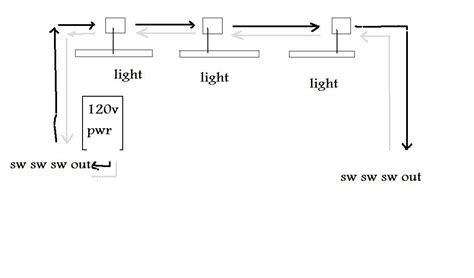power to switch light then switch three lights six