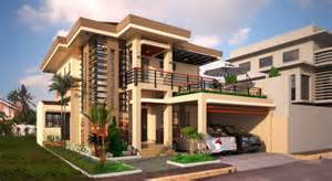 Low Cost House Designs And Floor Plans Two Double Storey Houses With Small Balcony Amazing