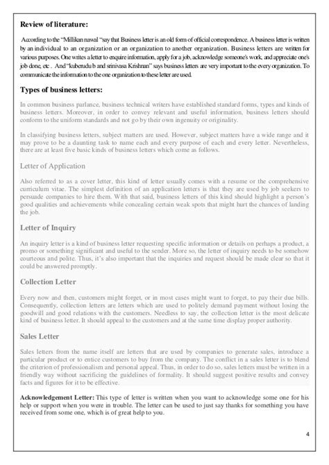 Types Of Business Letter In Types Of Business Letters