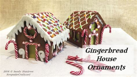 gingerbread house ornaments polymer clay christmas