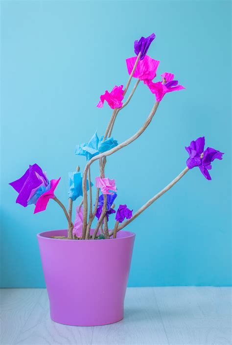 handmade flowers using sticks simple tutorial