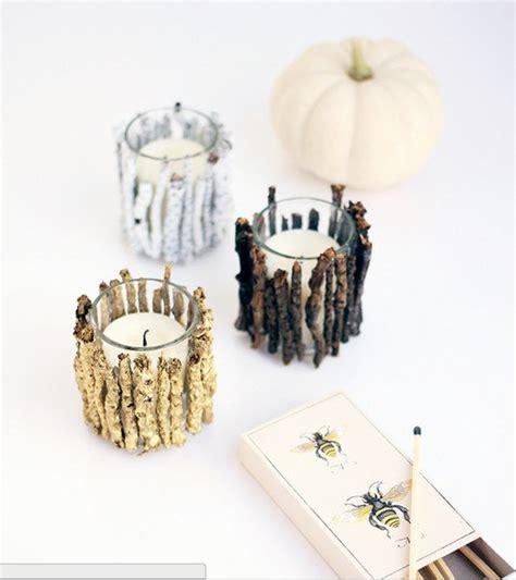 kerzenhalter selber basteln papier kerzenhalter aus zweigen basteln dekoking diy