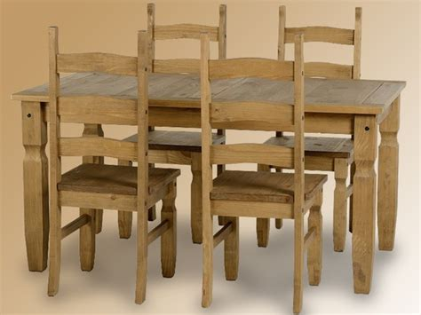 seconique corona 152cm pine dining table and 4 chairs set