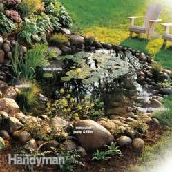 how to build a backyard garden how to build a water garden with waterfall the family