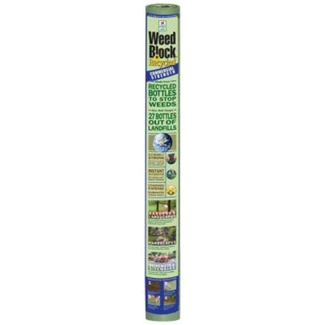 Landscape Fabric At Home Depot Easy Gardener Weedblock 4 Ft X 36 Ft Recycled Polyester
