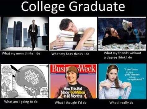 Collage Memes - college graduate meme study break pinterest to be