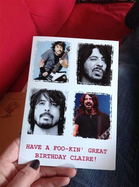 Dave Grohl Birthday Card Birthday Card Dave Grohl Pinterest