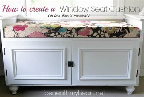 how to make your own bench cushion diy 5 minute window seat cushion beneath my heart