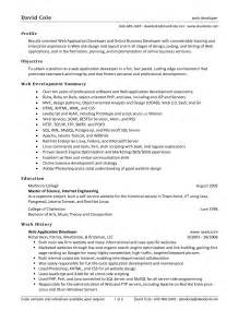 Front End Web Developer Sle Resume by Pdf Front End Web Developer Resume Exle