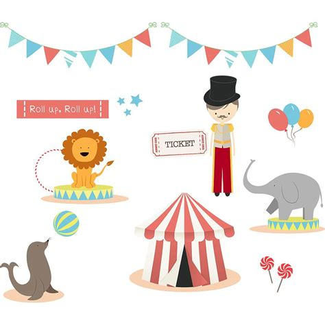 circus wall stickers circus fabric wall stickers by littleprints notonthehighstreet