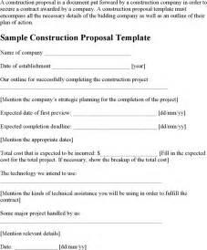 free sample construction proposal template doc pdf 1
