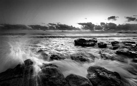 black and white ocean wallpaper sea black and white wallpaper 250667