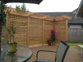 privacy screen ideas wooden patio organicoyenforma