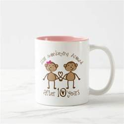 10th wedding anniversary gifts mugs zazzle