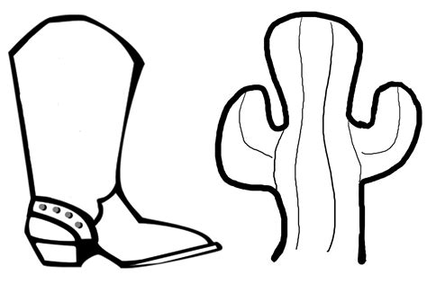 cowboy boots coloring page coloring pages pictures